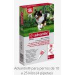 ADVANTIX 4 X 2.5 DE 10-25 KG 4 PIP